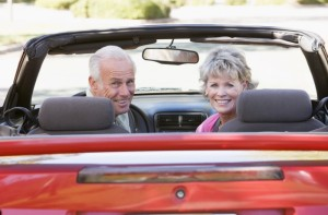 2129069-couple-in-convertible-car-smiling